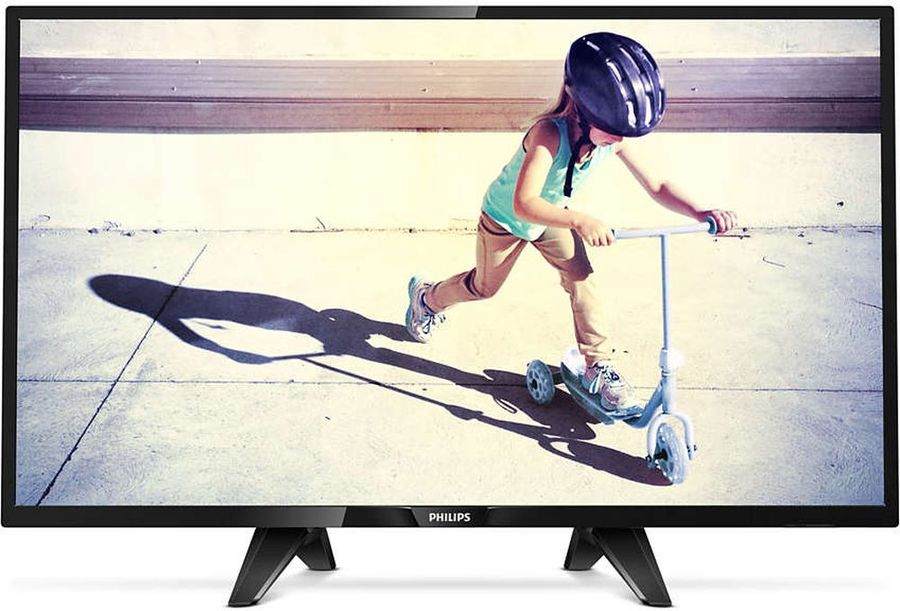 LED телевизор PHILIPS 32PFT4132/60 R, 32, FULL HD (1080p), черный телевизор philips 32pht4100 60 hd pmr 100 черный