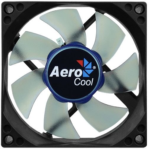 Вентилятор AEROCOOL Motion 8 Blue-3P,  80мм, Ret