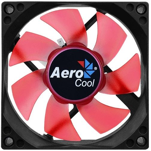 Вентилятор AEROCOOL Motion 8 Red-3P,  80мм, Ret