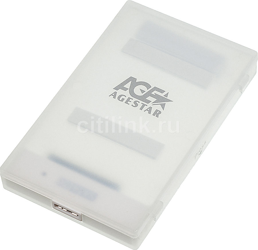 Внешний корпус для  HDD/SSD AGESTAR 3UBCP1-6G, белый