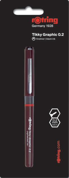 Ручка капиллярная Rotring Tikky Graphic (1904626) 0.2мм черные чернила