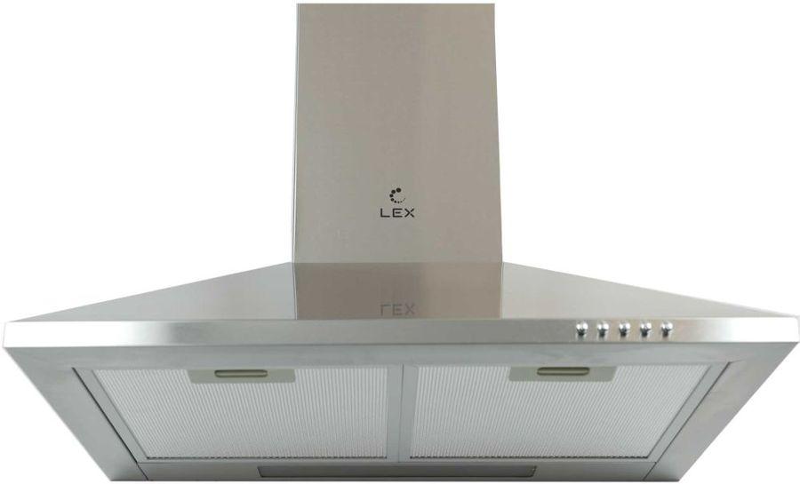 Вытяжка каминная Lex Basic 500 IX нержавеющая сталь управление: кнопочное (1 мотор)