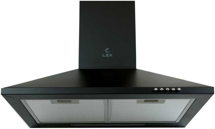 Вытяжка каминная Lex Basic 600 BL черный управление: кнопочное (1 мотор)