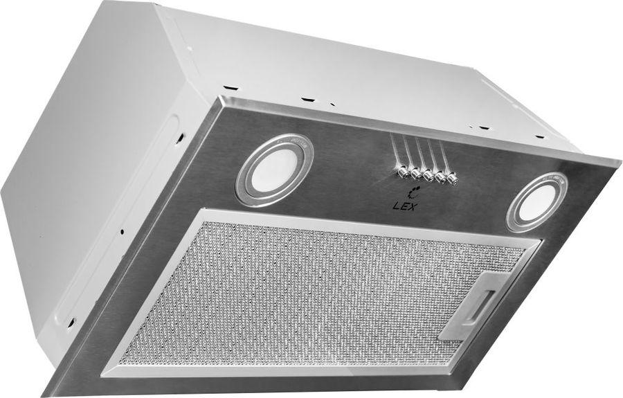 Вытяжка встраиваемая Lex GS Bloc 600 нержавеющая сталь управление: кнопочное (1 мотор)