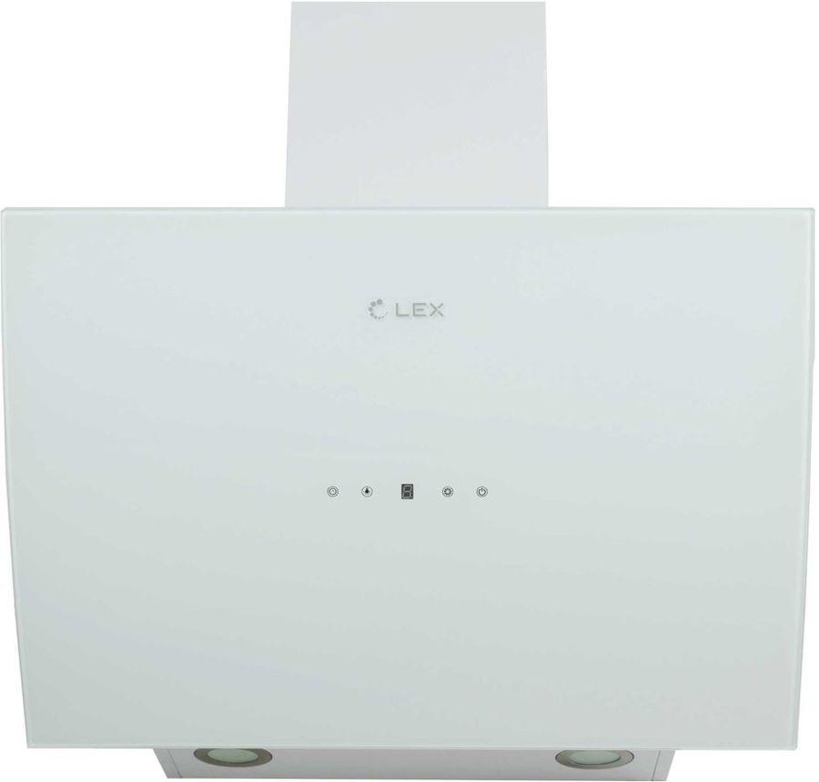 Вытяжка каминная Lex Plaza 600 белый управление: сенсорное (1 мотор)