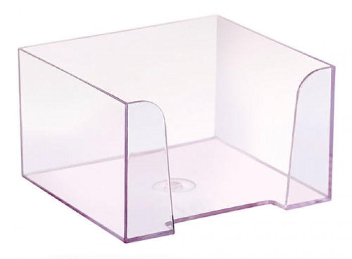 Подставка Стамм ПЛ61 для бумажного блока 90x90x50мм прозрачный/тонированный пластик