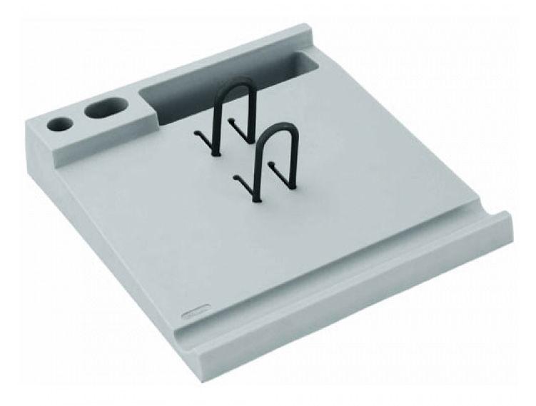 Подставка Стамм ПК06 для календаря 40x220x204мм серый пластик