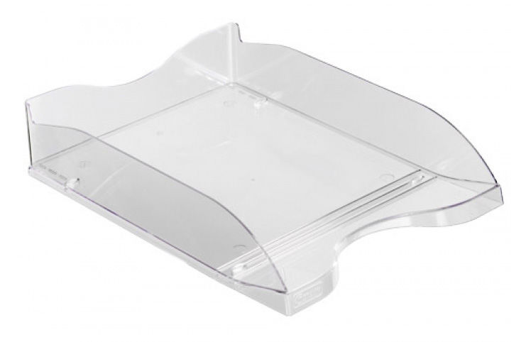 Лоток горизонтальный Стамм ЛТ61 Люкс 70x350x255мм прозрачный пластик