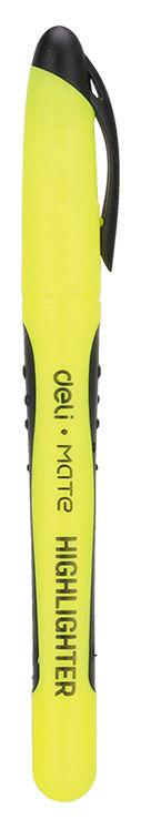 Текстовыделитель Deli EU35170 Mate скошенный пиш. наконечник 1-5мм резиновый грип тонкий желтый