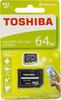 Карта памяти microSDXC UHS-I TOSHIBA M203 64 ГБ, 100 МБ/с, Class 10, THN-M203K0640EA,  1 шт., переходник SD вид 1