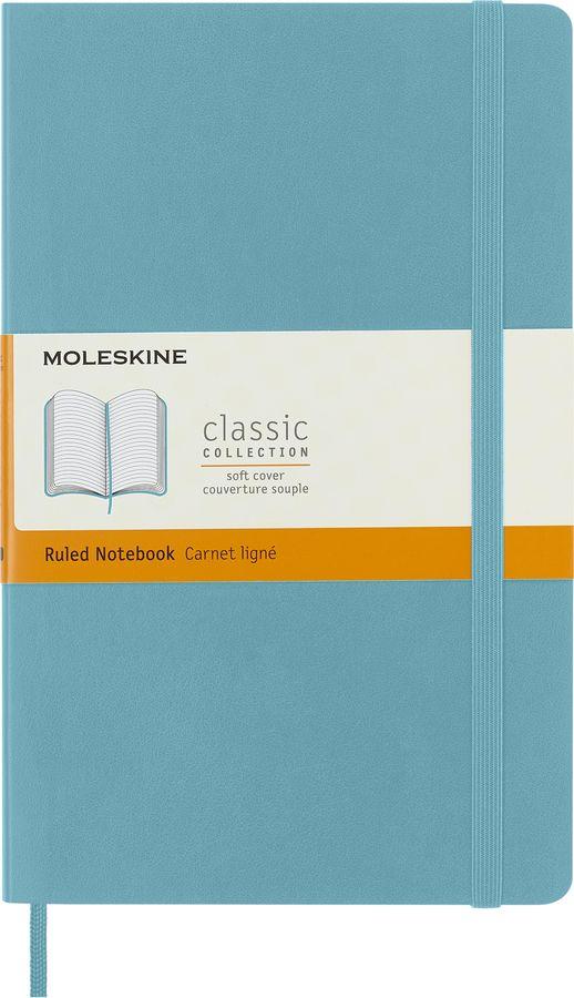 Блокнот Moleskine CLASSIC SOFT Large 130х210мм 192стр. линейка мягкая обложка фиксирующая резинка го