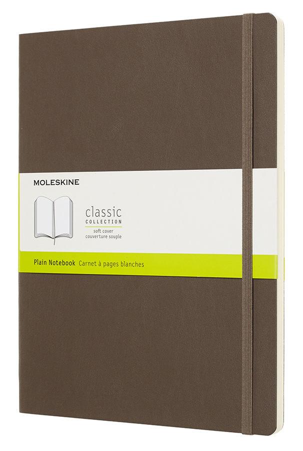 Блокнот Moleskine CLASSIC SOFT XLarge 190х250мм 192стр. нелинованный мягкая обложка коричневый