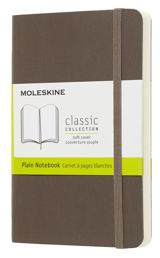Блокнот Moleskine CLASSIC SOFT Pocket 90x140мм 192стр. нелинованный мягкая обложка коричневый