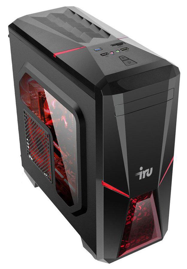 Компьютер  IRU Premium 515,  Intel  Core i5  8500,  DDR4 16Гб, 1000Гб,  256Гб(SSD),  NVIDIA GeForce GTX 1060 - 3072 Мб,  Free DOS,  черный [1057182]
