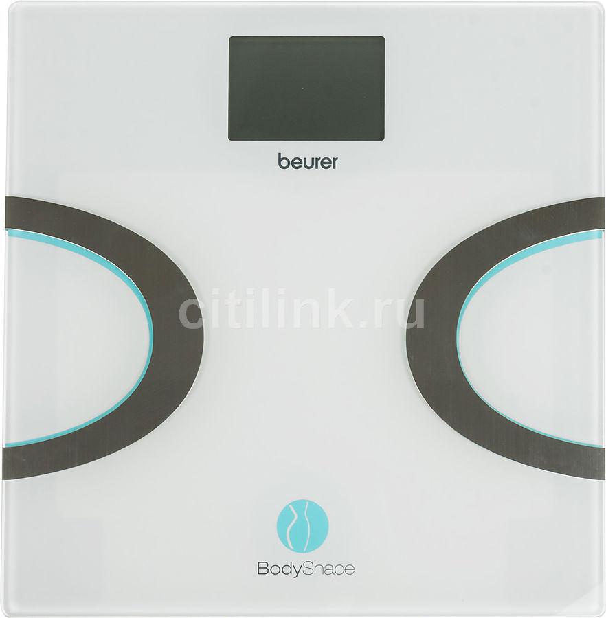 Напольные весы BEURER BF710, до 180кг, цвет: белый/бирюзовый [749.35]