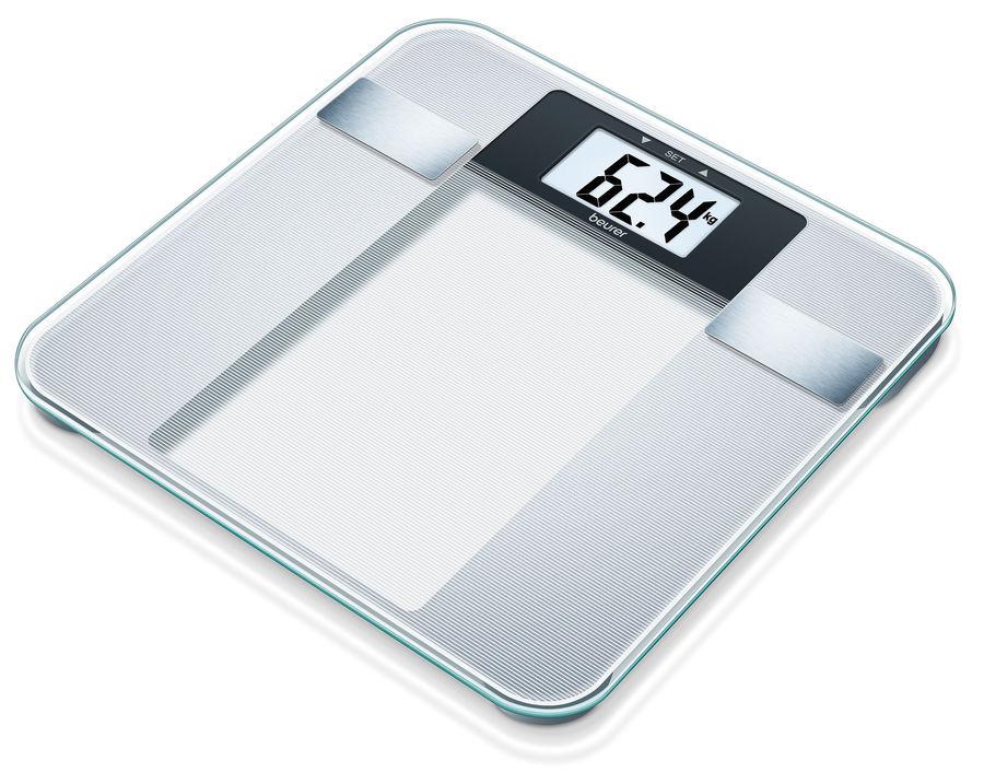 Напольные весы BEURER BG13, до 150кг, цвет: серебристый [760.30]