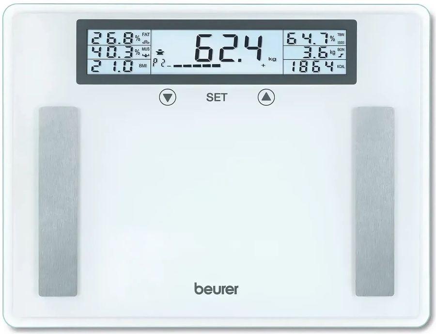 Напольные весы BEURER BG51 XXL, до 200кг, цвет: прозрачный [760.20]