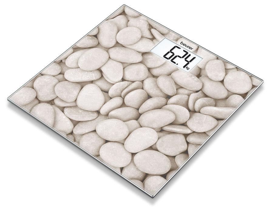Напольные весы BEURER GS203, до 150кг, цвет: рисунок/камни [756.33]