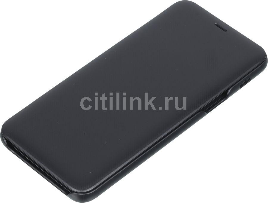 Чехол (флип-кейс) SAMSUNG Wallet Cover, для Samsung Galaxy A6+ (2018), черный [ef-wa605cbegru]
