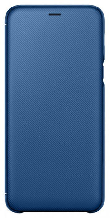 Чехол (флип-кейс) SAMSUNG Wallet Cover, для Samsung Galaxy A6+ (2018), синий [ef-wa605clegru]