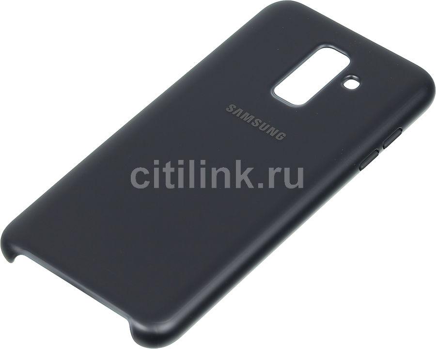 Чехол (клип-кейс) SAMSUNG Dual Layer Cover, для Samsung Galaxy A6+ (2018), черный [ef-pa605cbegru]