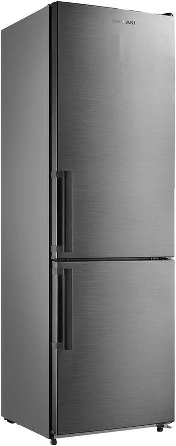 Холодильник SHIVAKI BMR-1883NFX,  двухкамерный, нержавеющая сталь