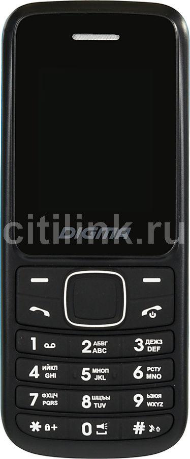 Мобильный телефон DIGMA Linx A170 2G,  черный/синий