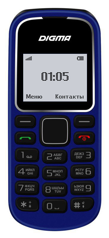 Мобильный телефон DIGMA A105 2G Linx,  темно-синий