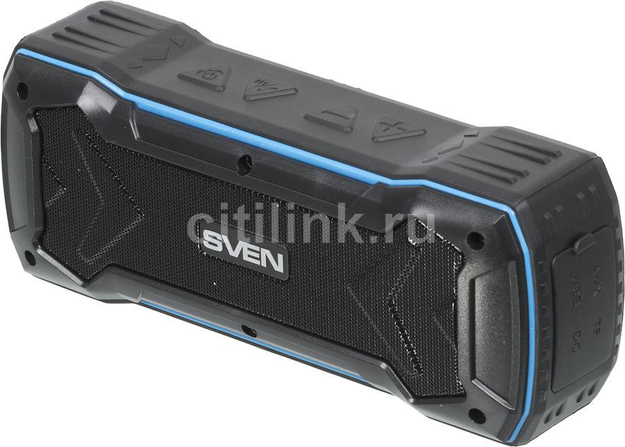Портативная колонка SVEN PS-220,  10Вт, черный  / синий