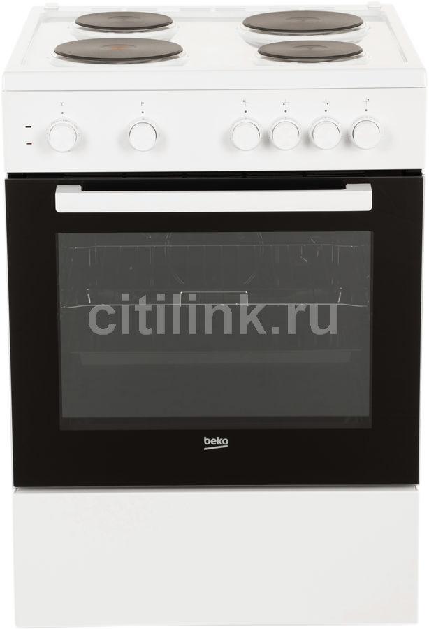 Электрическая плита BEKO FFSS66000W,  эмаль,  белый