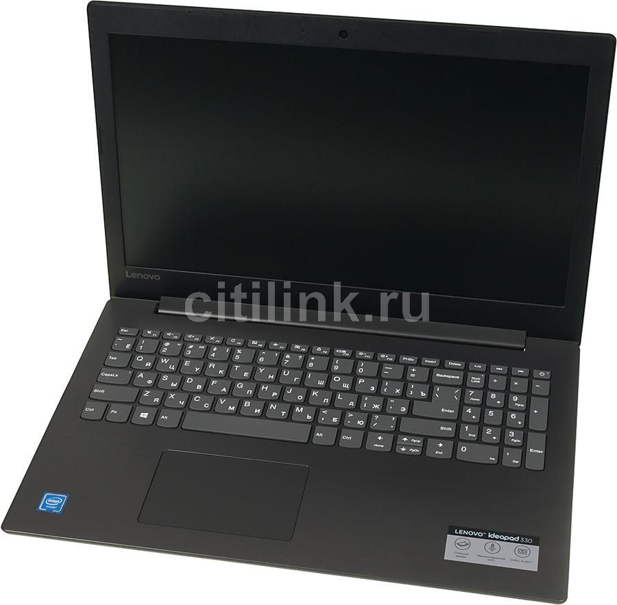 "Ноутбук LENOVO IdeaPad 330-15IGM, 15.6"",  Intel  Celeron  N4000 1.1ГГц, 4Гб, 500Гб,  Intel UHD Graphics  600, Windows 10, 81D1002LRU,  черный"