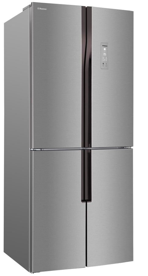 Холодильник HANSA FY418.3DFXC,  трехкамерный, нержавеющая сталь