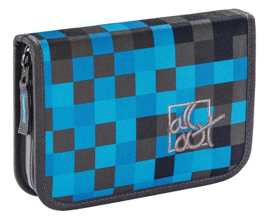 Пенал All Out 138558 Blue Pixel 1отд.
