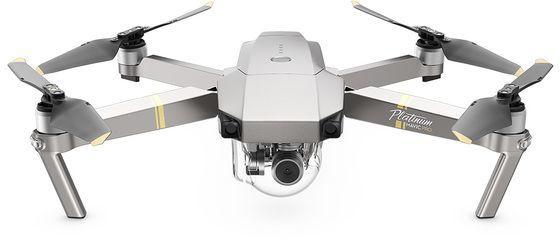Квадрокоптер DJI Mavic Pro Platinum с камерой,  платиновый