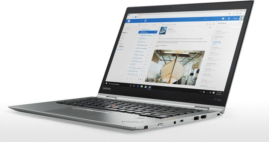 "Ноутбук-трансформер LENOVO ThinkPad X1 Yoga, 14"",  IPS, Intel  Core i7  8550U 1.8ГГц, 16Гб, 1Тб SSD,  Intel UHD Graphics  620, Windows 10 Professional, 20LF000TRT,  серебристый"