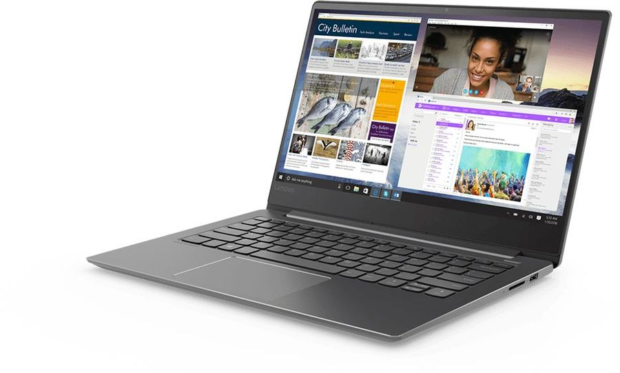 Ноутбук LENOVO IdeaPad 530S-14IKB, , Intel Core i7 8550U .8ГГц, 8Гб, 256Гб SSD, nVidia GeForce Mx150 - 2048 Мб, Windows 10, 81EU00BERU, черный