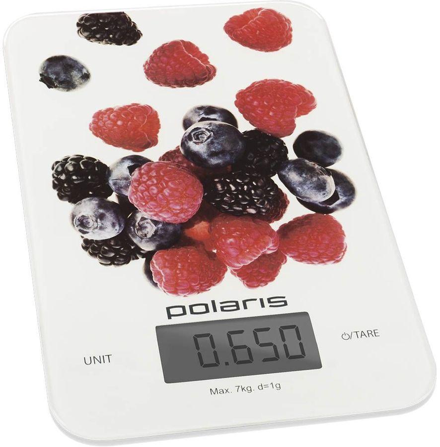 Весы кухонные POLARIS PKS 0740DG,  белый/рисунок