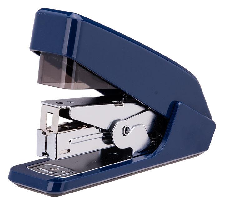 Степлер настольный Deli E0467BLUE Pro 24/6 26/6 (30листов) встроенный антистеплер синий 100скоб