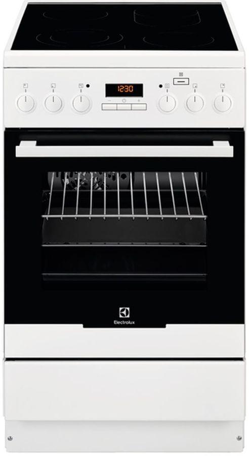 Электрическая плита ELECTROLUX EKC954901W,  стеклокерамика,  белый