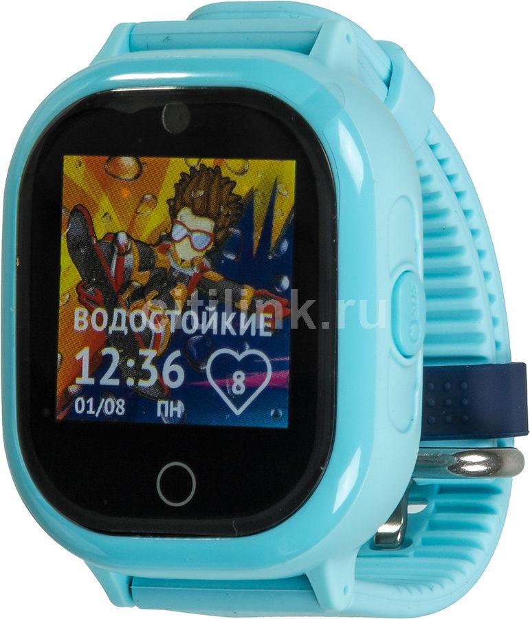 """Смарт-часы КНОПКА ЖИЗНИ Aimoto Ocean,  1.3"""",  голубой / голубой [9200104]"""
