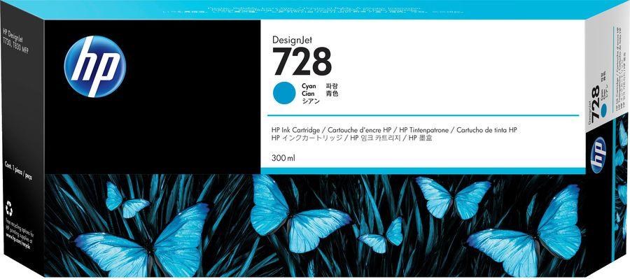 Картридж HP 728 голубой [f9k17a]
