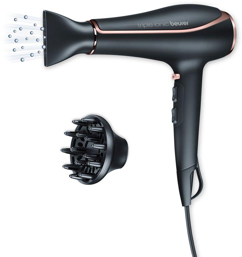 Фен BEURER HC80, 2200Вт, черный