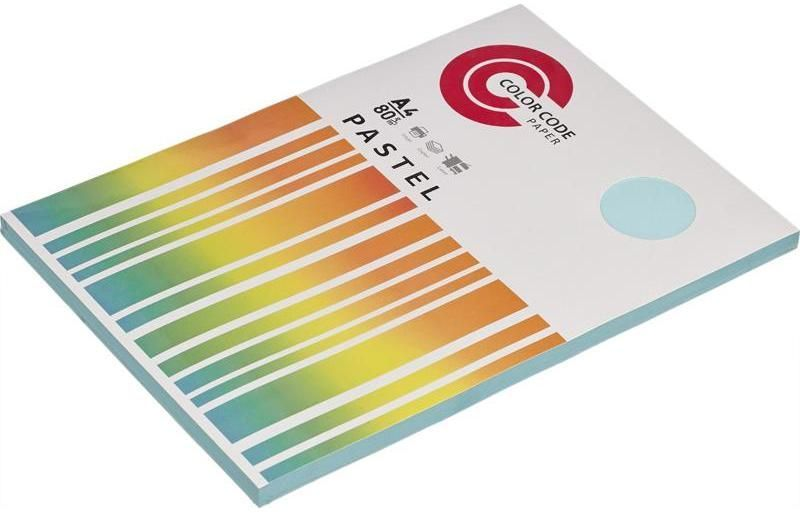 Бумага 473346 A4/80г/м2/100л./голубой пастель общего назначения(офисная)