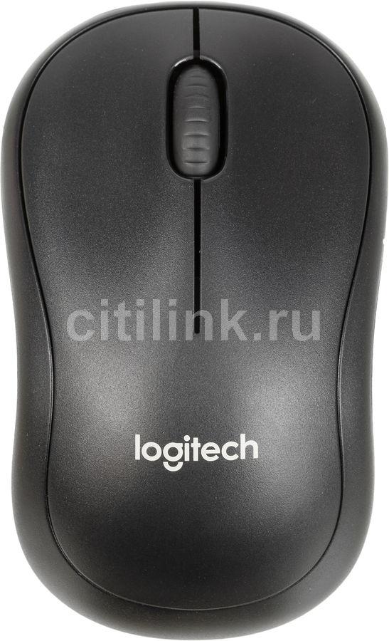 Мышь LOGITECH B220 Silent оптическая беспроводная USB, черный [910-004881]
