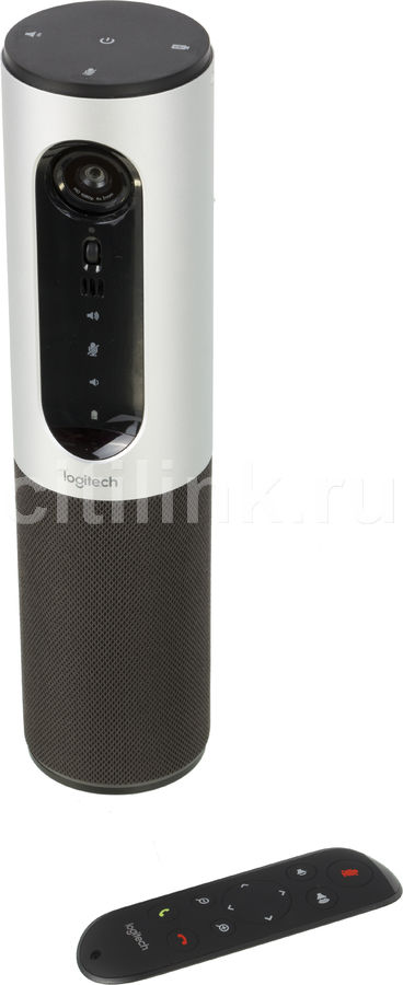Web-камера LOGITECH Conference Cam Connect,  черный и серебристый [960-001038]