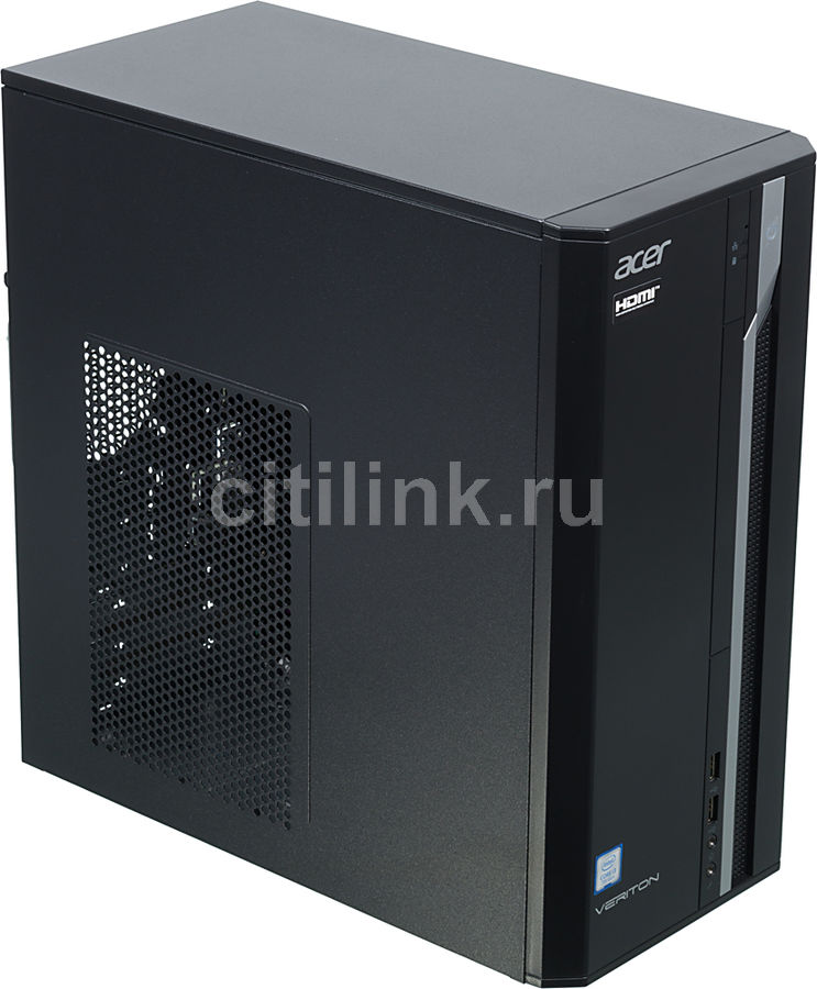 Компьютер  ACER Veriton ES2710G,  Intel  Core i3  7100,  DDR4 8Гб, 128Гб(SSD),  Intel HD Graphics 630,  Free DOS,  черный [dt.vqeer.060]