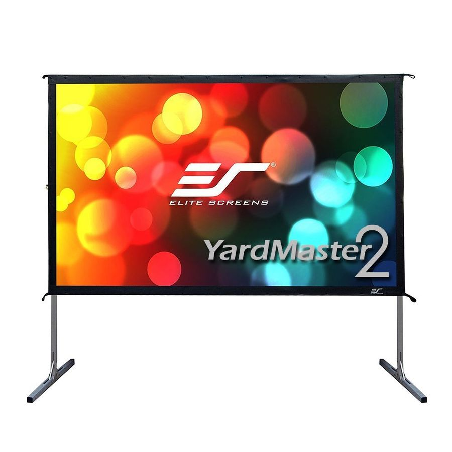 Экран ELITE SCREENS Yard Master OMS120H2-DUAL, 266х149 см, 16:9, переносной(мобильный) affordable 1080p cinema projector screen acoustically transparent fabric 135inch 16 to 9 fixed frame screens