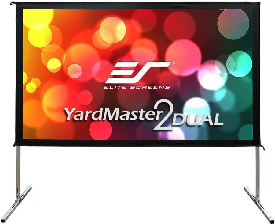 Экран ELITE SCREENS Yard Master OMS150H2-DUAL, 332х187 см, 16:9, переносной(мобильный) affordable 1080p cinema projector screen acoustically transparent fabric 135inch 16 to 9 fixed frame screens
