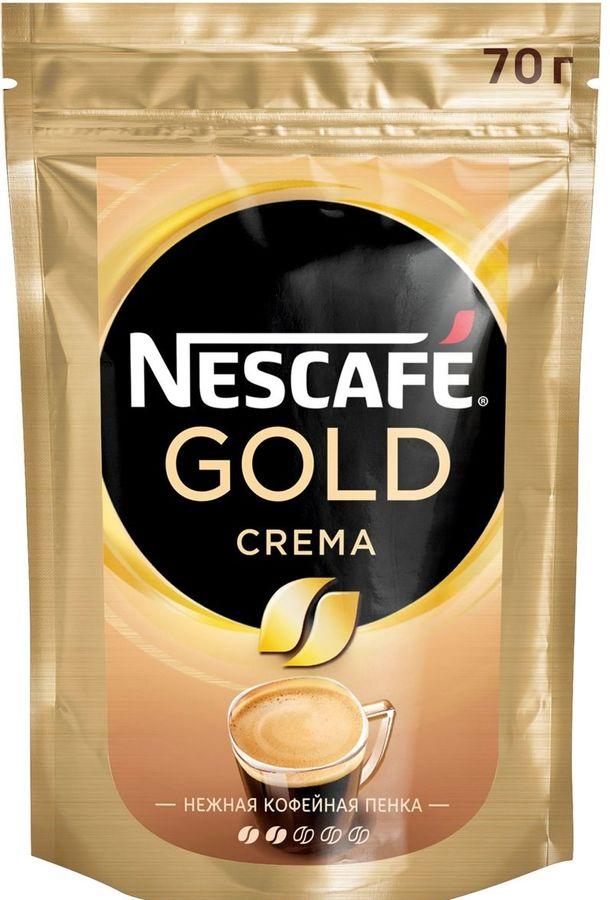 Кофе растворимый NESCAFE Gold Crema,  70грамм [12328674]