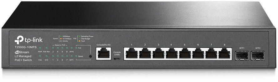 Коммутатор TP-LINK T2500G-10MPS, T2500G-10MPS